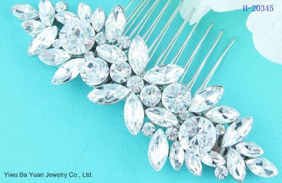 Bridal.Wedding.Crystal.Jewel.Diamante.Side Comb.Hair.Silver Plated.