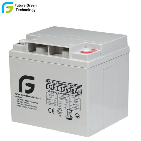 12V 38ah AGM SLA Sealed Deep Cycle ABS Material Batteries