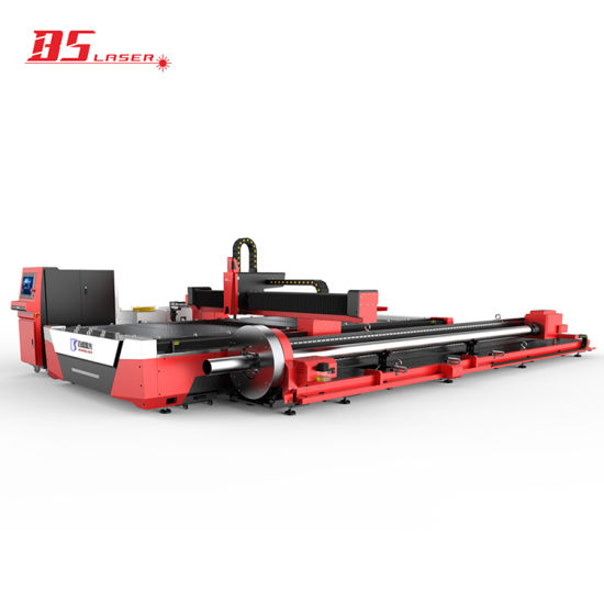 China Supplier 2000W CNC Fiber Laser Cutter Machine for Metal Sheet & Pipe Tube Two-Way