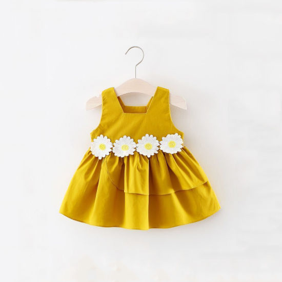 Flower Baby Girls Dress 2018 New Sleeveless Newborn Dresses for Baby Girls  Summer Birthday Party Dress Baby Clothing d4e95292e2e9