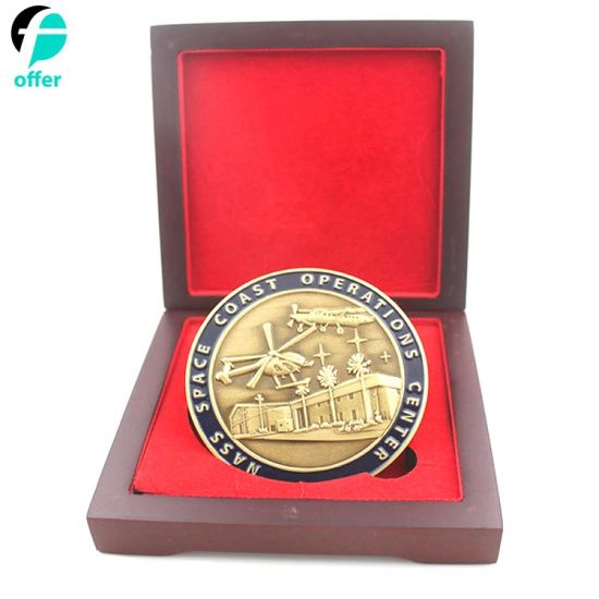 Challenge Coin with Wood Display Box
