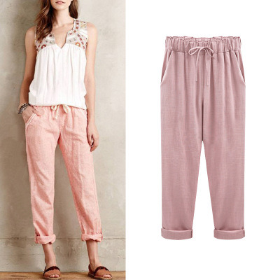 f0ad821a74b9 Women′s Pants Summer New Style Linen Pants Comfortable Nine-Cent Pants ( 18406)