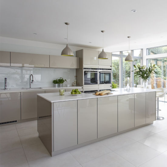 Custom Prefabricated Designer American Kitchens Plywood Kitchen Cabinet