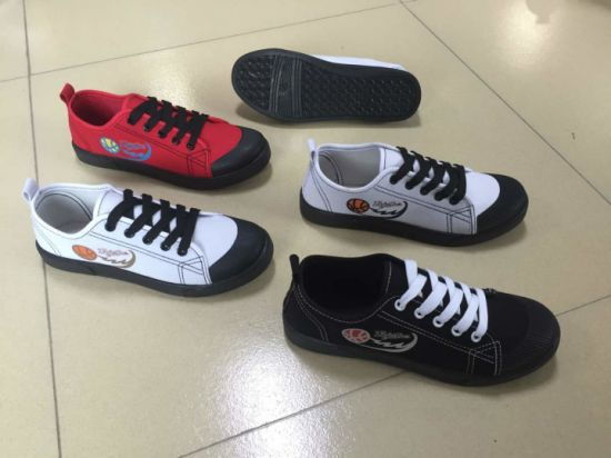 New Design Lady Footwear Injection PVC Canvas Casual Shoes Py180609-19