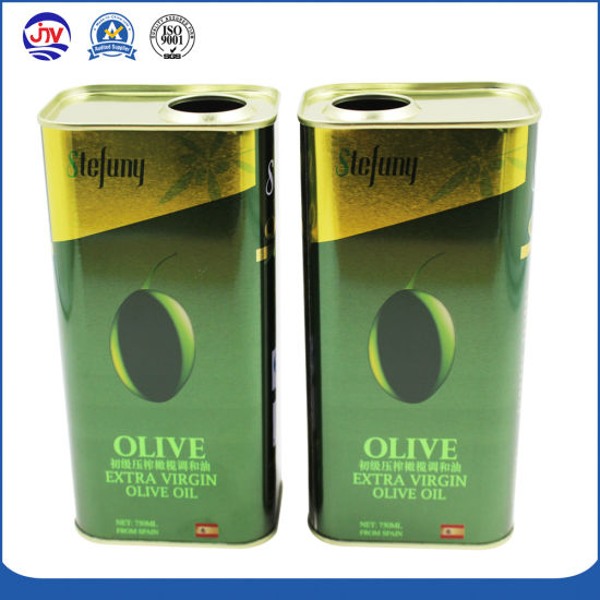 750ml Olive Oil Tin Container Customize Metal Can Container