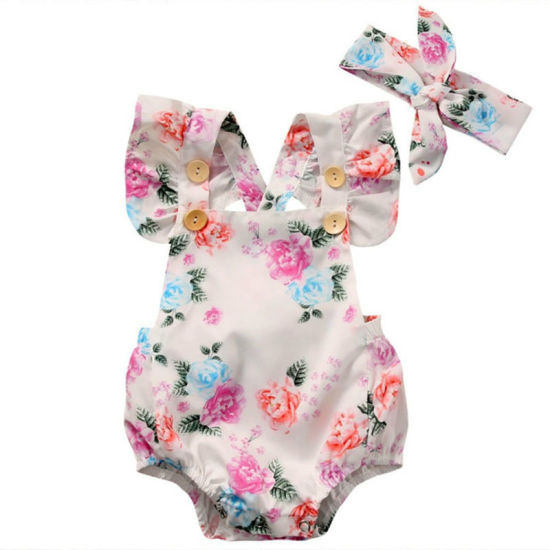 New Born Baby Girl Clothes Summer Flower Infant Bodysuit