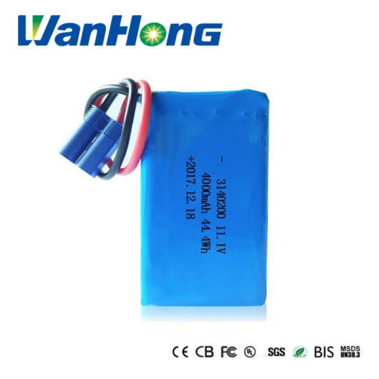 11.1V Li-ion Battery Pack 3140200pl 4000mAh Rechargeable Lithium Polymer Li-Polymer Battery Pack for Fire Eqiupment