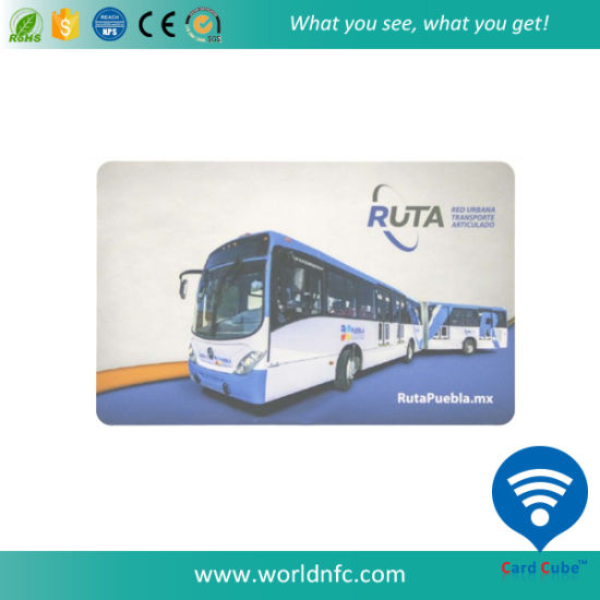 ISO14443A 13.56MHz Classic S 50 RFID Smart Card for Bus pictures & photos