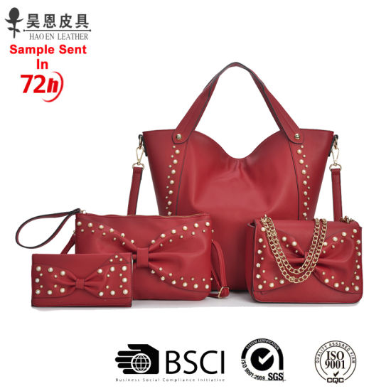 2020 New PU Leather Designer Women Tote Handbag Sets Fashion Lady Handbag pictures & photos