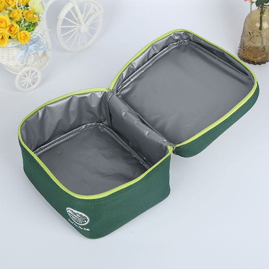 Zippered Lunch Cooling Cooler Bag for Picnic