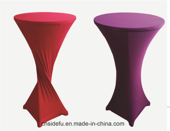 Wholesale Hotel Bar Party Plain Spandex Cocktail Table Cover pictures & photos