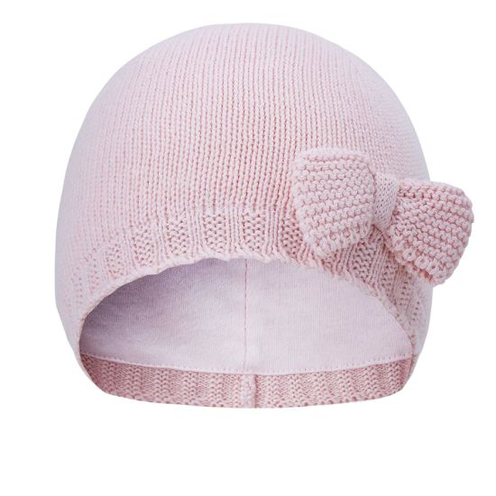 100% Cotton Toddler Beanie Knitted Bowknot Winter Baby Hat Toddler