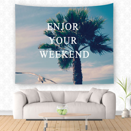 Palm Tree Painting Wall Decor Tapestry for Living Room pictures & photos