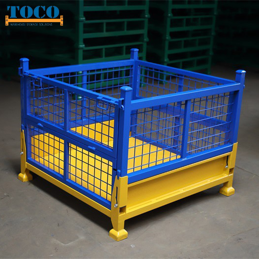 Factory Supply Ce Certified Foldable Customized Steel Pallet Stillage