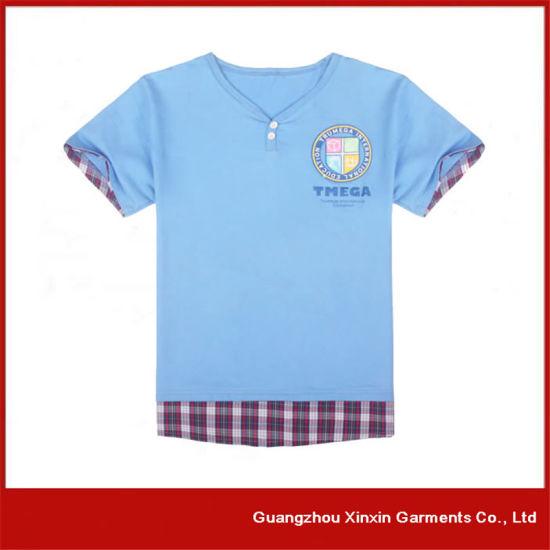 Customized Spandex Blue High Quality Children's T-Shirts (R51)