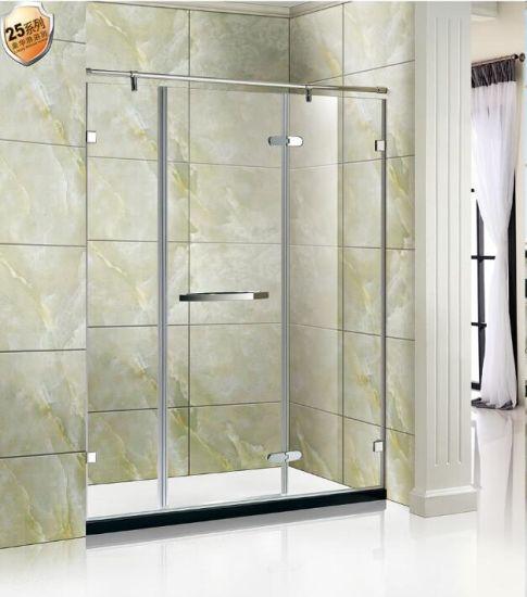 China 38 Glass Chrome Stainless Steel Shower Door Shower Cabin