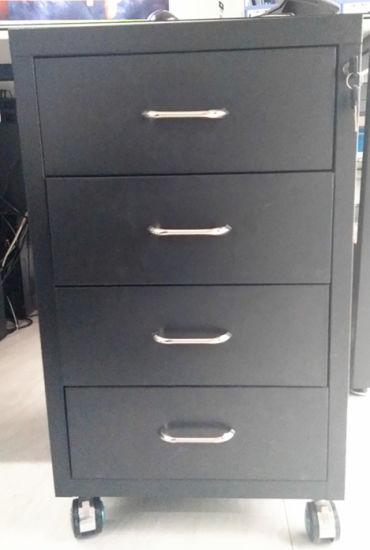 Under Table Metal 4 Drawer Storage Cabinet