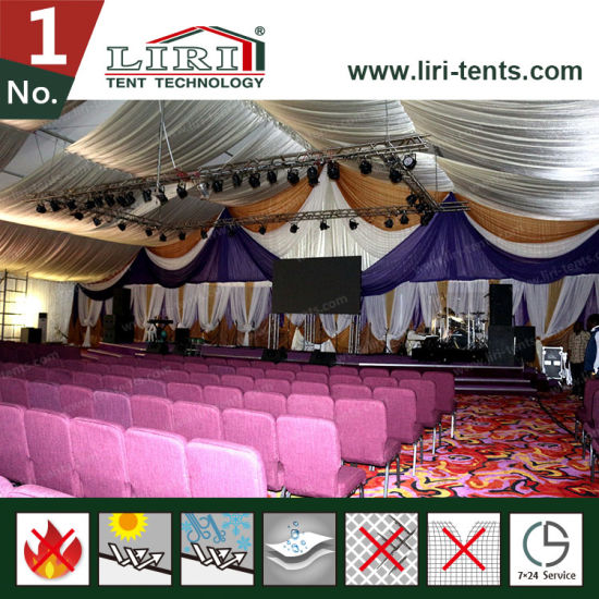 1000 Seater Big Church Tent with Stage and Lining for Church Service & China 1000 Seater Big Church Tent with Stage and Lining for Church ...