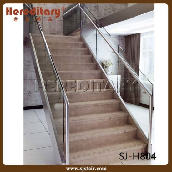 Indoor House Steel Glass Handrail Railing Staircase System