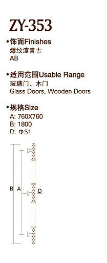 Ab Finish Stainless Steel Door Handle (ZY-353) pictures & photos