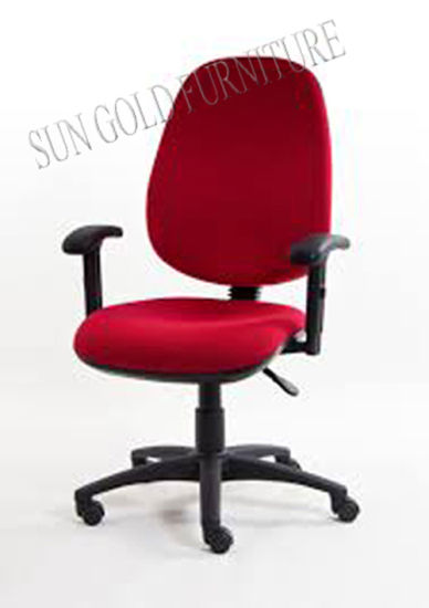 china red armrest fabric swivel staff office computer chair sz