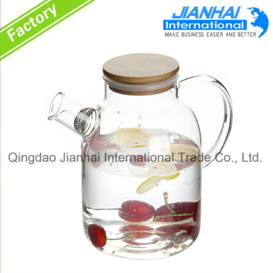 Hiqh Quality Glass Cold Water Pots, Water Jug with Lid pictures & photos