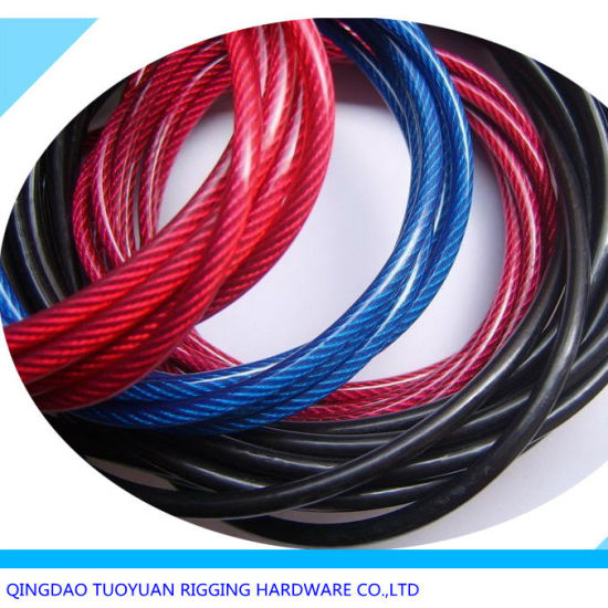 China PVC Coated 7X7 Galvanized Steel Wire Rope 6mm - China Wire ...