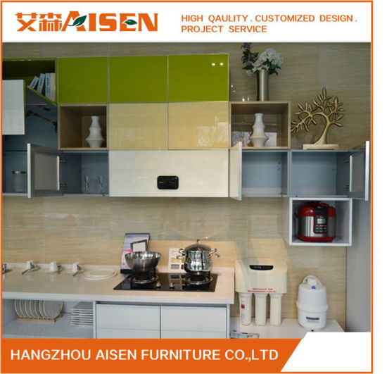 Color Combined Flat Surface Bakery Painted MDF Kitchen Cabinets