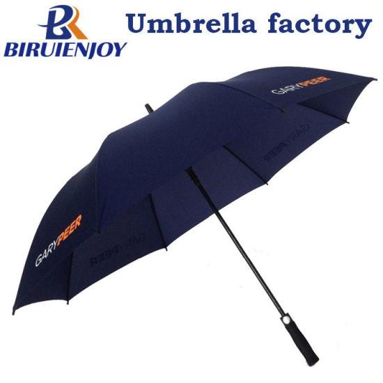 High Quality Big Navy Blue Sports Golf Umbrella with Logo Printed 30 Inch
