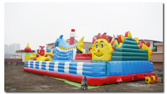 Inflatable Funland Large Inflatable Adventure Playground for Children