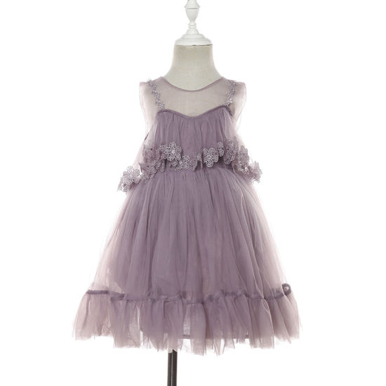 Customized Summer Dress with Lace for Girls