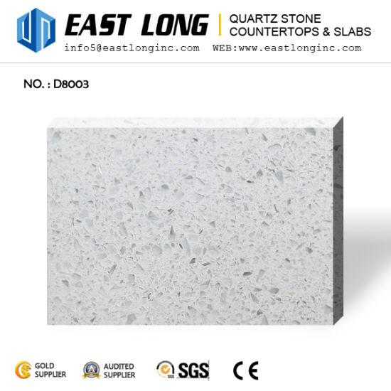 Cheap Whole Sparkling Big Grain White Artificial Quartz Stone Slabs