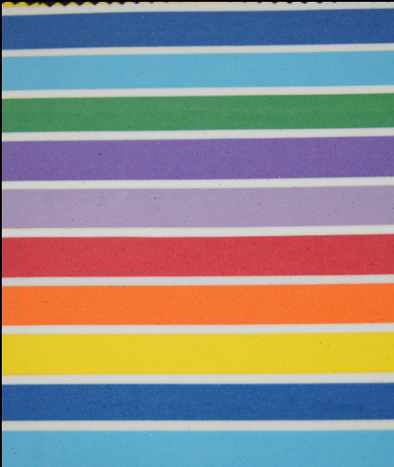 Rainbow Sheet with Color Lines