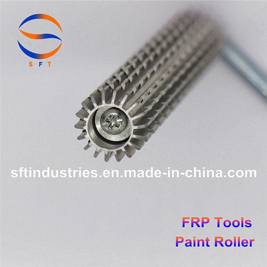 """Fiberglass Air Bubble Buster Roller 1/"""" x 3/"""" Wide Aluminum"""