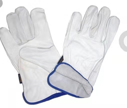 Goat Skin Soft Warm for White Leather Work Safety Gloves High Quality