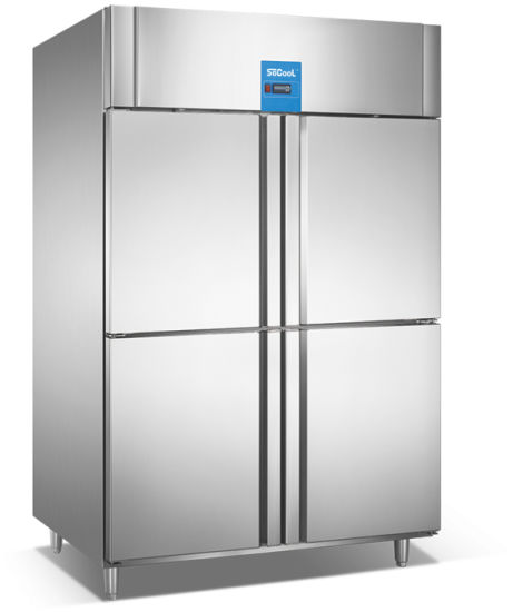 China Ecomonical 4 Half Doors Commercial Kitchen Refrigerator for ...