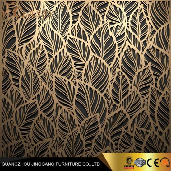 Luxury Modern Laser Cut Screen Stainless Steel Decorative Panel Decorative Partition