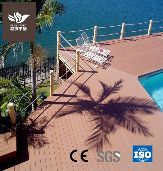 Outdoor WPC Environmental Material Hollow Decking