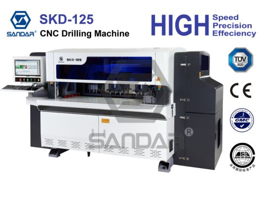 Woodworking 5-Sides Hole Drilling and Boring Machine