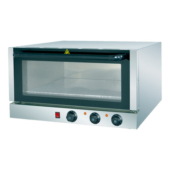 Full Stainless Steel Knob Panel Pizza Oven for Restaurant Kitchen Baking Use with Marble Stone