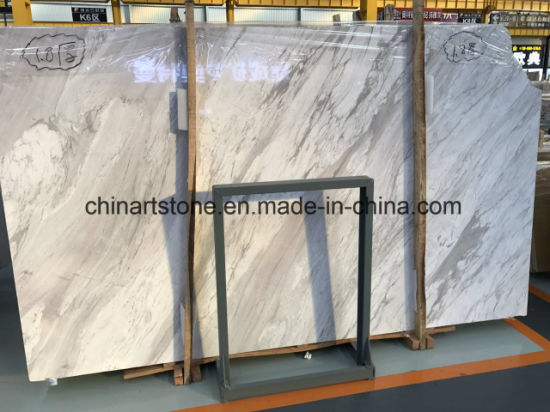 Volkas White Marble for Flooring pictures & photos