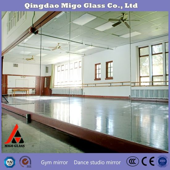 4mm Silver Glass Mirror For Bathroom Gym Dance Studio And Living Room Interior Decoration China Mirror Decoration Gym Mirror Wall Made In China Com
