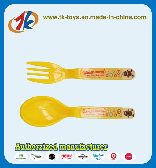 China Supplier Plastic Safety Spoon and Fork Toy for Kids