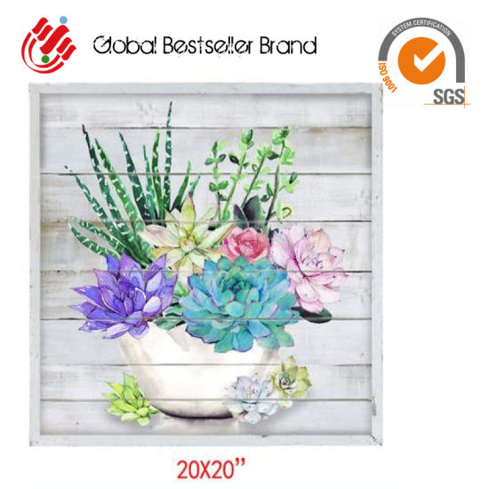 2019 Customized Beautiful Flowerpot/Garden Spot Hand Oil Painting Home Wall Art Paintings (GF-015) pictures & photos
