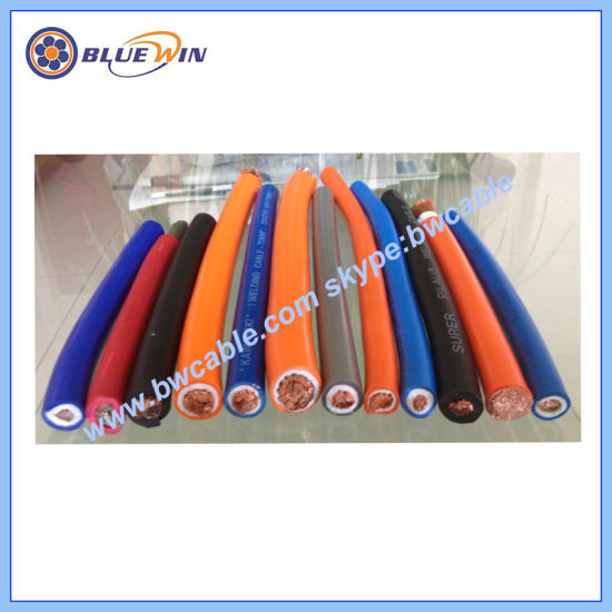 PVC Arc Welding Cable 70mm2 Rubber Insulated Electricalelectric Specifications Copper Ground CCA Super Flexible Machine Cable Orange Power Cable H01n2-E H01n2-D pictures & photos