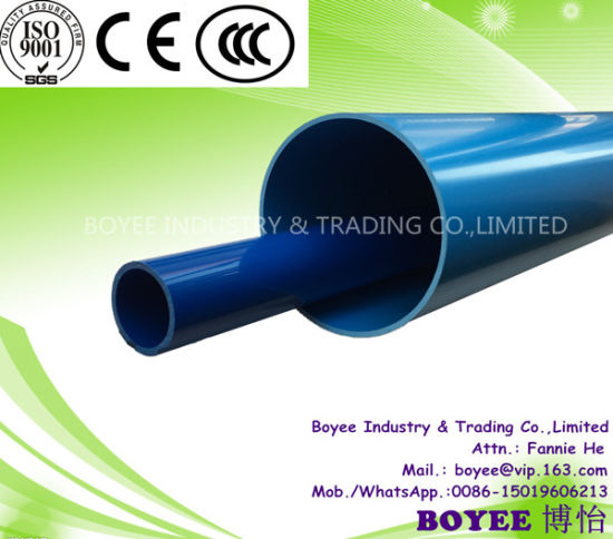110mm & 160mm & 200mm UPVC Plastic Pipe for Water Supply