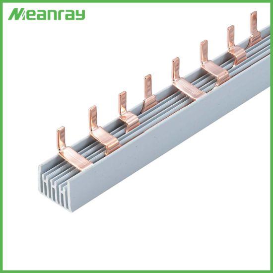 Busbar MCB U Pin Type Tin Plated Copper Busbar with 1p 2p 3p