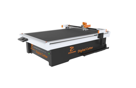 Thick Carton Board Digital CNC Knife Cutting Machine with High Accuracy and Speed Flatbed Table Cutter