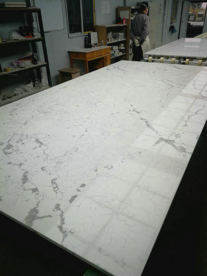 China Free Sample Calacatta Quartz Stone Slabswhite Quartzite