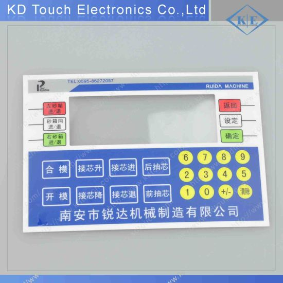 Polycarbonate Clear Window Graphic Control Label with Adhesive